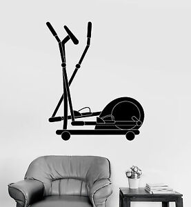 Vinyl Wall Decal Gym Exercise Equipment Fitness Sports Stickers ig4006