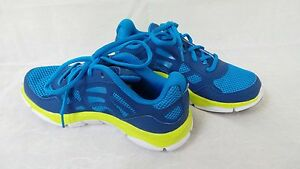 New Youth Boys Under Armour MicroG Engage Running Shoes BlGreen 1255013-449 D32