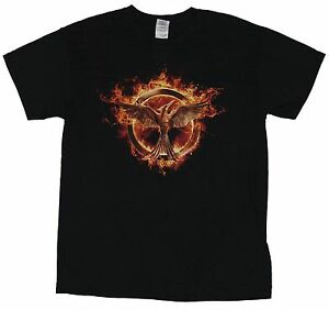 The Hunger Games Mens T-Shirt - Rising Double Wing Mocking Jay Logo Image