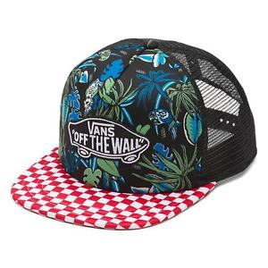 Vans Off The Wall Classic Patch Tropical Parrot Check Trucker Hat Mens New NWT
