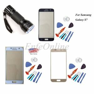 Samsung GALAXY S7 Front Touch Screen Lens Replacement Glass+Tools +UV GlueLight