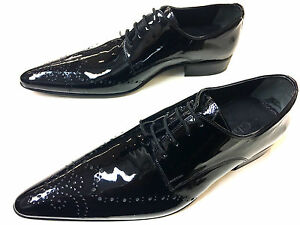 CHELSY DESIGNER PATENT LEATHER SHOES BUSINESS PARTY SLIPPERS HAND MADE HANDMADE $164.39
