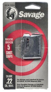 Savage 90001 Factory Mag for 93 Series 22 WMR17 HMR 5 rd Blued Finish