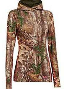 UNDER ARMOUR COLD GEAR WOMEN INFRARED EVO REALTREE HUNTING HOODIE XXL CAMO