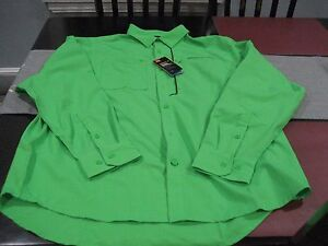 MENS UNDER ARMOUR ARMOURVENT HEATGEAR BUTTON DOWN LS SHIRT GREEN LARGE L NWT