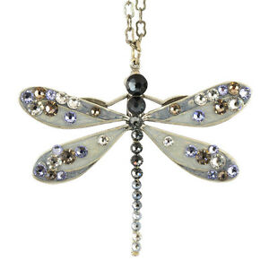 Anne Koplik Dragonfly Pendant Necklace Silver Plated NS3130GPH