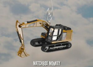 Custom Caterpillar CAT 320E Excavator 190 Scale Christmas Ornament Deere Volvo