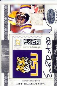 early doucett rc rookie draft auto autograph jersey stamp patch lsu college # 5