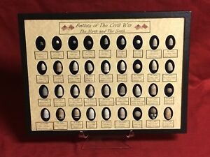 Civil War Bullets 36 Authentic Bullets in Case Includes all 3 Cleaners with COA
