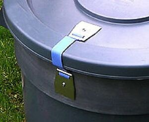 Lid-LOC For use with Garbage-LOC Keeps Animals Out! - For UNHinged Trash Can