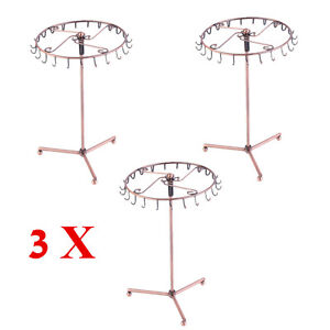 3X Jewelry Tree Rotating Ring Display Holder Organizer Bracelet Necklace Rack BP