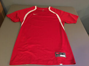 Womens Nike TEAM FIT-DRY Workout Running Top Jersey T-Shirt SMALL
