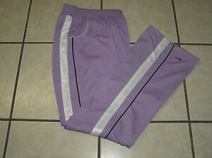 Girls Nike Athletic Workout Casual Running Warm Up Pants LavenderWhite Sz XL