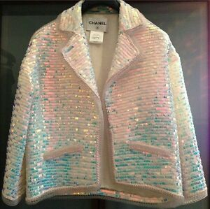CHANEL sequin ready to wear haute couture jacket blazer pearl LIMITED