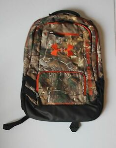 Under Armour  Camo Hustle Backpack   Realtree  1247302