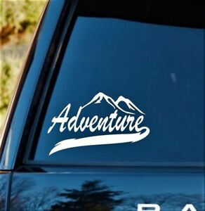 C1130 Adventure Camping Hiker Outdoor Sportsman Decal Sticker Fishing Hiking Art