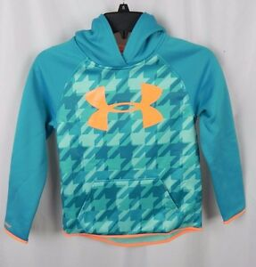 NEW Girl's Under Armour Cold Gear Green Hoodie Sweatshirt (S1-59)