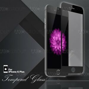 Black Full Cover Tempered Glass Screen Protector For IPhone 6S 6 Plus 5.5