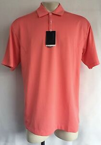 NIKE GOLF A36 Salmon Pink Fit Dry Tour Performance Athletic Polo Shirt Sz L NWT