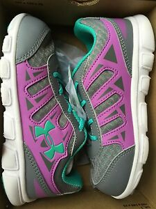 NEW Under Armour Girls Athletic Shoes 10K 10 Kids Youth UA INFANT G SPINE RN