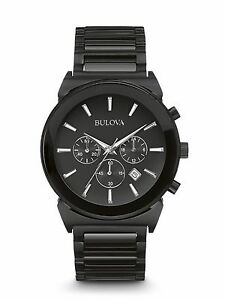 Bulova Men's 98B215 Classic Quartz Chronograph Black Bracelet Watch