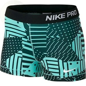 Womens Pro Core Patchwork 3 Compression Shorts New Free Shipping