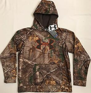 NWT youth Boys' large UNDER ARMOUR hooded sweatshirt COLDGEAR hoodie REALTREE