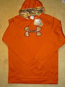 Men's XL TALL Under Armour Storm Orange & Camo Loose Hoodie 1253663-801 NWT $70
