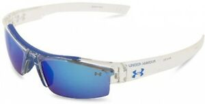 Under Armour Nitro Youth Crystal Clear Frame With Blue Rubber And Gray-Blue