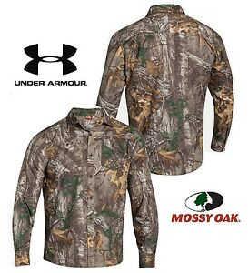 Under Armour UA Mossy Oak Chesapeake Camo Shirt Men's Size 2XL New with Tags