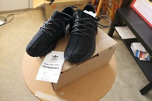 yeezy boost 350 Pirate Black size 9 with reciept!