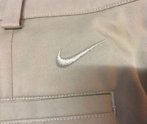 Men's Nike Golf Tour Performance Fit Dry Khaki Tan Shorts 33 G G