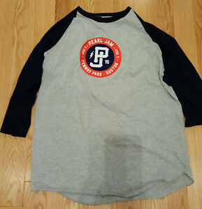 PEARL JAM Fenway Park 34 Long Sleeve Baseball Shirt Men size XL Extra Large NEW