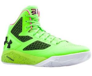 New under armour clutchfit drive 2 youth Boys Girls 6.5y Green Neon Shoe Sneaker