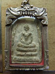 Phra Somdej Toh Bangkhunprom Buddha yr 2411-2413 antique beautiful Silver case