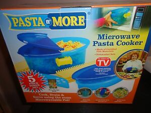 PASTA N' MORE AS SEEN ON TV 5 PIECE MICROWAVE PASTA COOKER