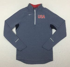 Nike USMNT USA Soccer Team Issue Element Running Pullover Top Shirt Small 512554