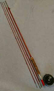 Antique Montague bamboo 3pc fly rod & Ocean city #306 reel