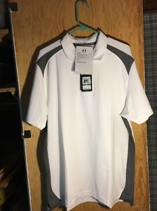 New Men's Under Armour Heat Gear Loose Fit Polo Shirt L 1283702 RETAILS $54.99