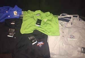 NWT Wholesale Lot of 12 Nike Dri-Fit Golf Short Sleeve Polo Shirts sz: M-L