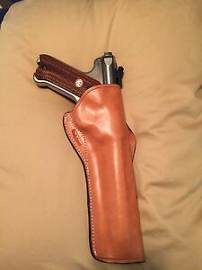 Custom Leather Cross Draw Leather Holster Fits Ruger Mark lll Competition
