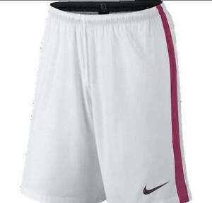 NWT Mens Nike Dry Fit Soccer Shorts White and red Style 653506 Size XL