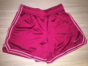 Nike Dry Fit Girls Small 1012 Gym Shorts Athletic Red And Pink