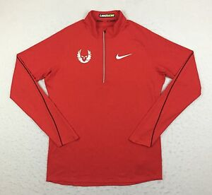 Nike Racing Oregon Project Red Element Running Pullover Shirt Top Men's Medium M