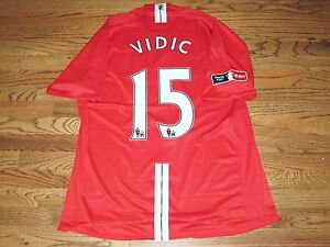 Vidic Manchester United Man Match Un Worn Player Issue Jersey Shirt FA Cup