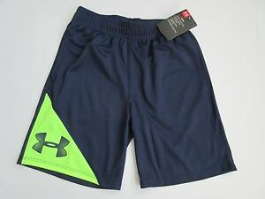 Under Armour Heat Gear Boy's Youth Navy Seal Shorts Size 6 - NWT