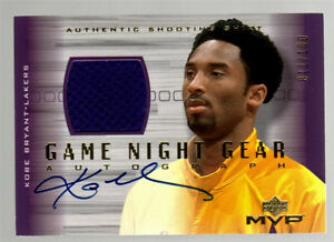 Kobe Bryant 2001-02 UD Game Night Gear Shooting Shirt RELIC  AUTOGRAPH #11100