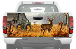 DEER AT FARM Tailgate Graphic Decal Sticker Truck wrap camo john deere tractor