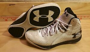 Women's Under Armour Micro G Torch Basketball Shoes Size 10 White Bl 1256436-100