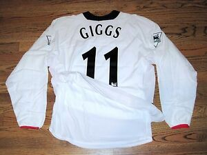 Giggs Manchester United Man Match UnWorn Player Issue Jersey Shirt Dual Layer LS
